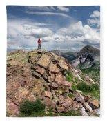 Continental Divide Above Twin Lakes - Weminuche Wilderness Fleece Blanket