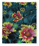 Contrasting Colors Digital Art Fleece Blanket