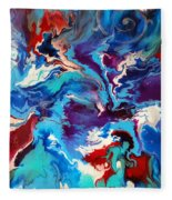 Convergence Of The Four Winds Fleece Blanket