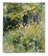 Conversation In A Rose Garden Fleece Blanket
