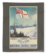 Convoy Your Country To Victory Fleece Blanket