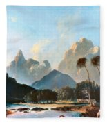 Cook: Tahiti, 1773 Fleece Blanket