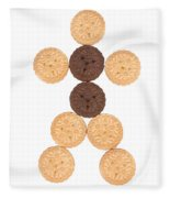 Cookie Man Fleece Blanket
