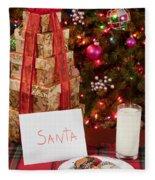 Cookies And Milk For Santa Fleece Blanket