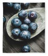 Cooking With Blueberries Fleece Blanket