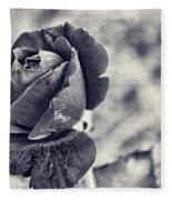 Cool Black Rose Fleece Blanket