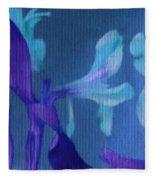 Cool Blue Lilies Fleece Blanket