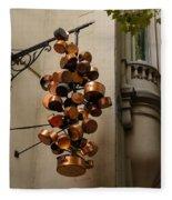 Cool Copper Pots - Parisian Restaurant Left Bank La Rive Gauche Fleece Blanket