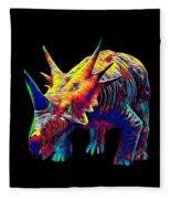Cool Dinosaur Color Designed Creature Fleece Blanket