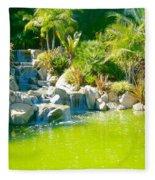 Cool Green Waterfall Fleece Blanket