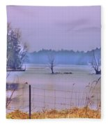 Cool Morning In Vermont Fleece Blanket