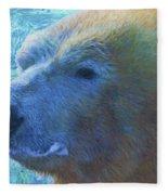 Cool Polar Bear Fleece Blanket