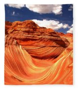 Cool Spring Day At The Wave Fleece Blanket
