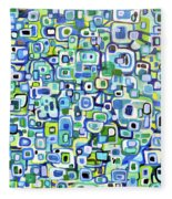 Cool Squares And Shapes Fleece Blanket