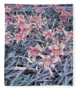 Cool Sunset Field Of Tiger Lillies Fleece Blanket