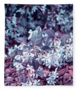 Cool Sunset Jasmine In Bloom Fleece Blanket