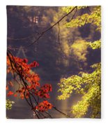 Cool Vermont Autumn Day Fleece Blanket