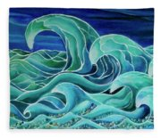Cool Waves 3-  Fleece Blanket