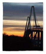 Cooper River Bridge - Charleston Sc Fleece Blanket