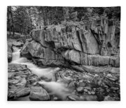 Coos Canyon Black And White Fleece Blanket
