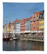 Copenhagen Harbor Fleece Blanket
