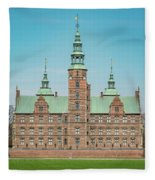 Copenhagen Rosenborg Castle Facade Fleece Blanket