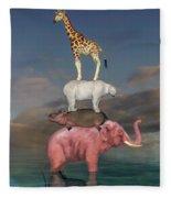Coporate Collaboration  Fleece Blanket