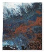 Copper Abstract 2 Fleece Blanket