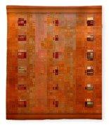 Copper Abstract Fleece Blanket