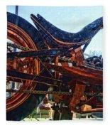 Copper Bike Ny Centennial Statue Of Liberty Ny Fleece Blanket