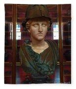 Copper Bust In Rome Fleece Blanket