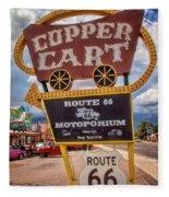 Copper Cart Fleece Blanket