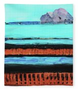 Copper Cliffs Beachside Fleece Blanket