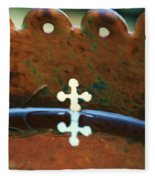 Copper Cross Fleece Blanket