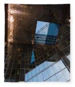 Copper Glass And Steel Geometry - Fabulous Modern Architecture In London U K Fleece Blanket