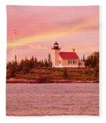 Copper Harbor Lighthouse Fleece Blanket