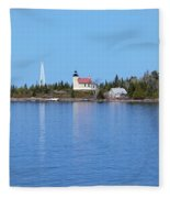 Copper Harbor Lighthouse Fleece Blanket