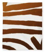 Copper Lines Fleece Blanket