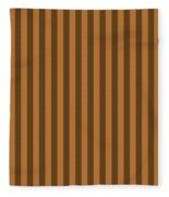 Copper Orange Striped Pattern Design Fleece Blanket