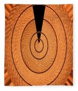 Copper Panel Abstract Fleece Blanket