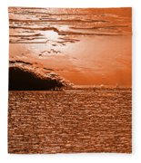 Copper Plate Sunrise Fleece Blanket