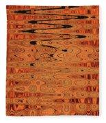 Copper Plates Double Abstract Fleece Blanket