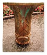 Copper Water Fountain Fleece Blanket