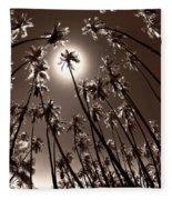 Coppertone Palms Fleece Blanket