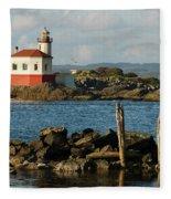 Coquille River Lighthouse Bandon Oregon Fleece Blanket