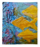 Coral Chorale Fleece Blanket
