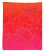 Coral Crackle Fleece Blanket