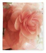 Peach Petals Glow Fleece Blanket