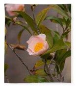 Coral Camellia Fleece Blanket
