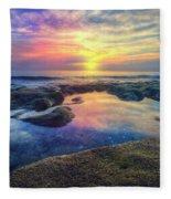 Coral Pools Fleece Blanket